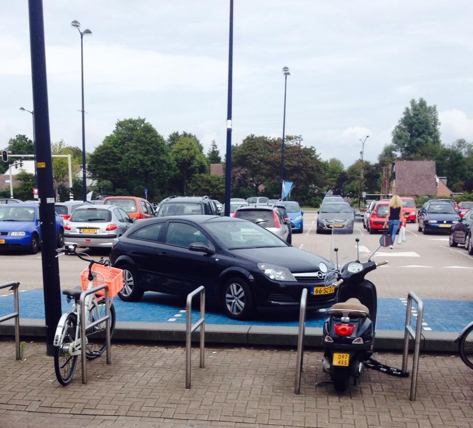 bord uitrit niet parkeren
