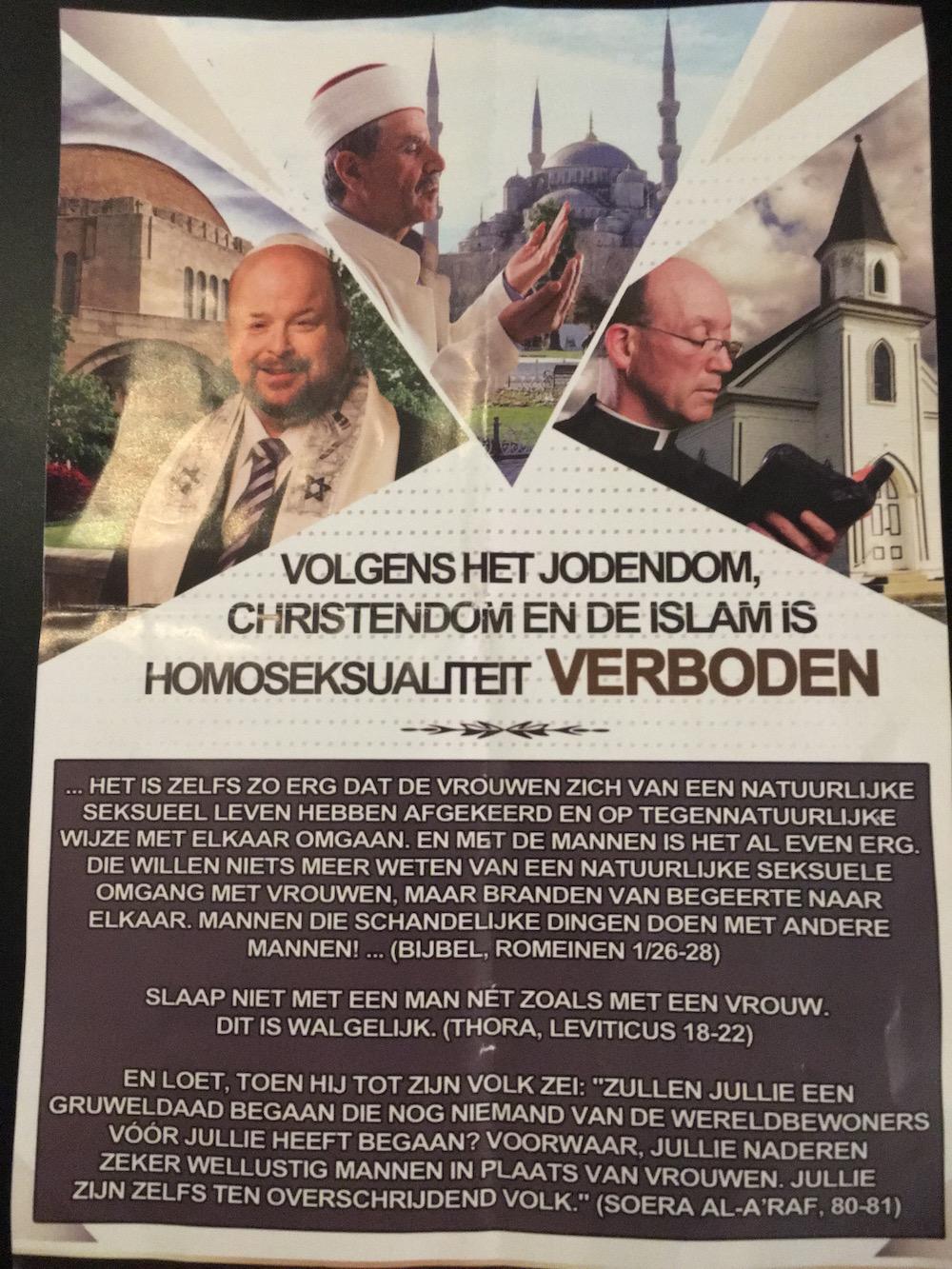 Geenstijl: ingezonden: homohaat pamfletten in 020 west