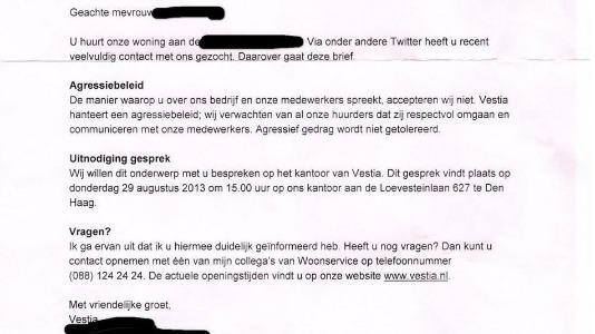 Geenstijl Brief Vestia Wil Even Praten Met Boze Twitteraar