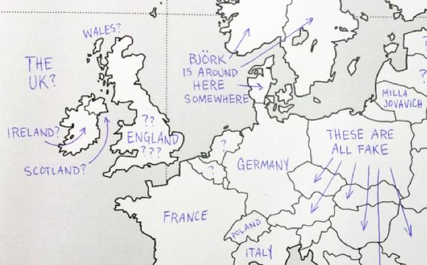 Geenstijl Lol Amerikanen Vullen Blinde Kaart Europa In