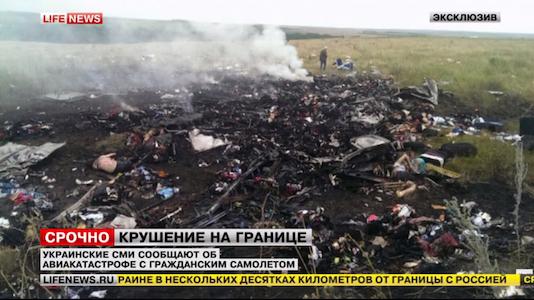 foto pesawat kecelakaan MH17