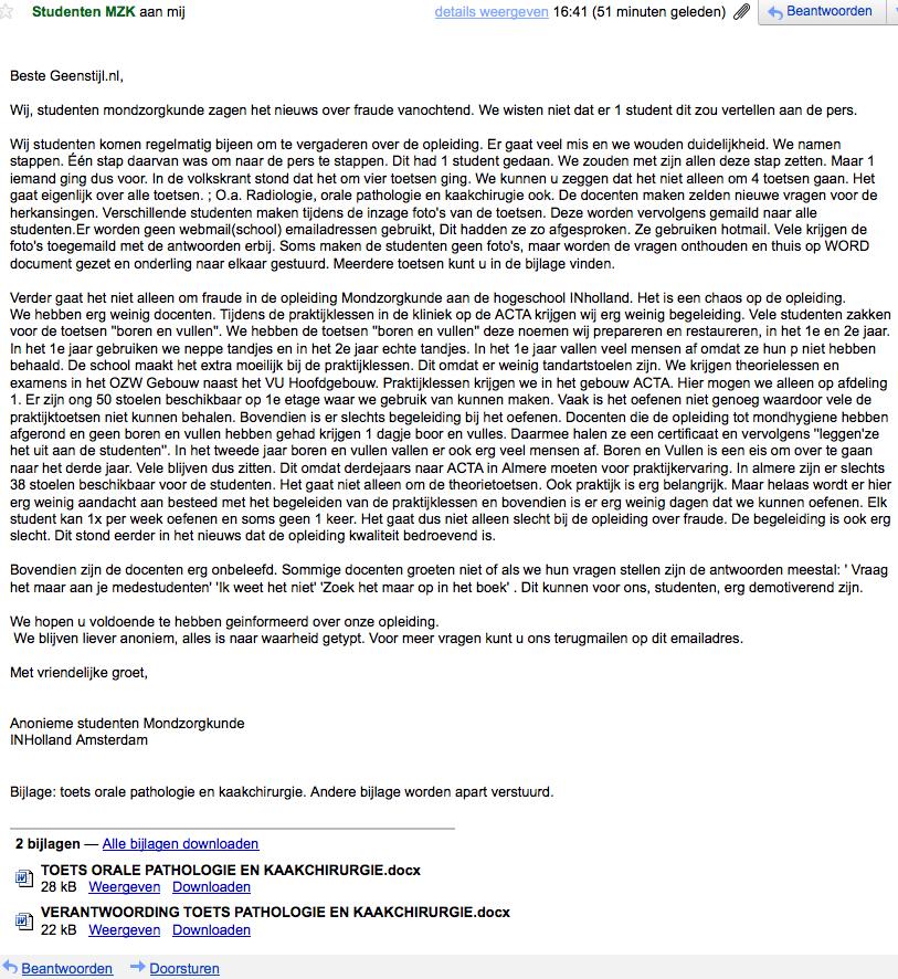 sollicitatiebrief phd GeenStijl: HBO Tandheelkunde InHolland: zo spel je LOL sollicitatiebrief phd