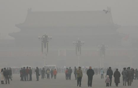 Plein van de Hemelse Smog (klik voor vergroting)