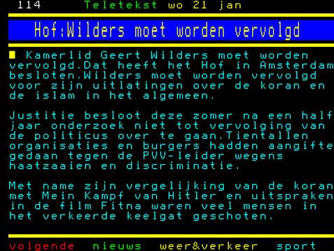 Geenstijl Brekend Nieuws Om Moet Wilders Vervolgen