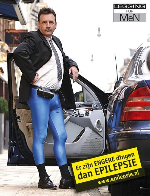 Nieuw, blauwe legging