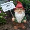 Steun het tuinkabouterbevrijdingsfront!